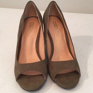 Cato peep toe chunky heeled shoes